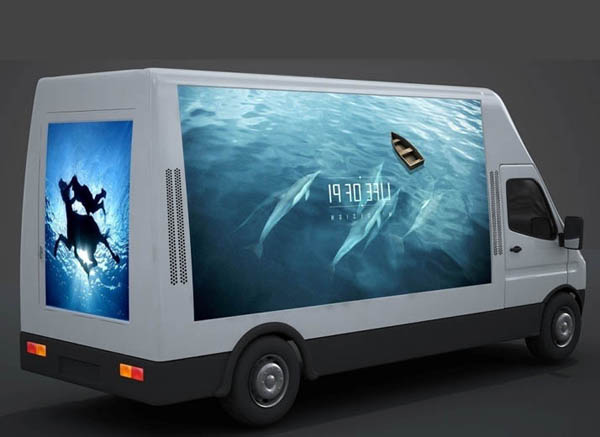 OUTDOOR ADVERTISING MOBILE LED TRUCK IVECO